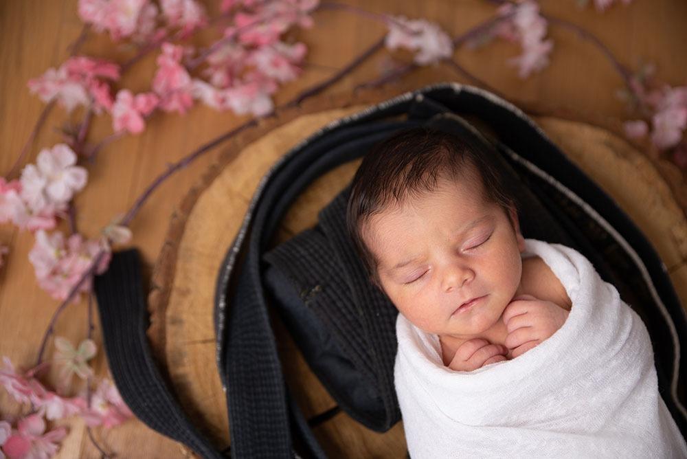 newborn photography cherry flower