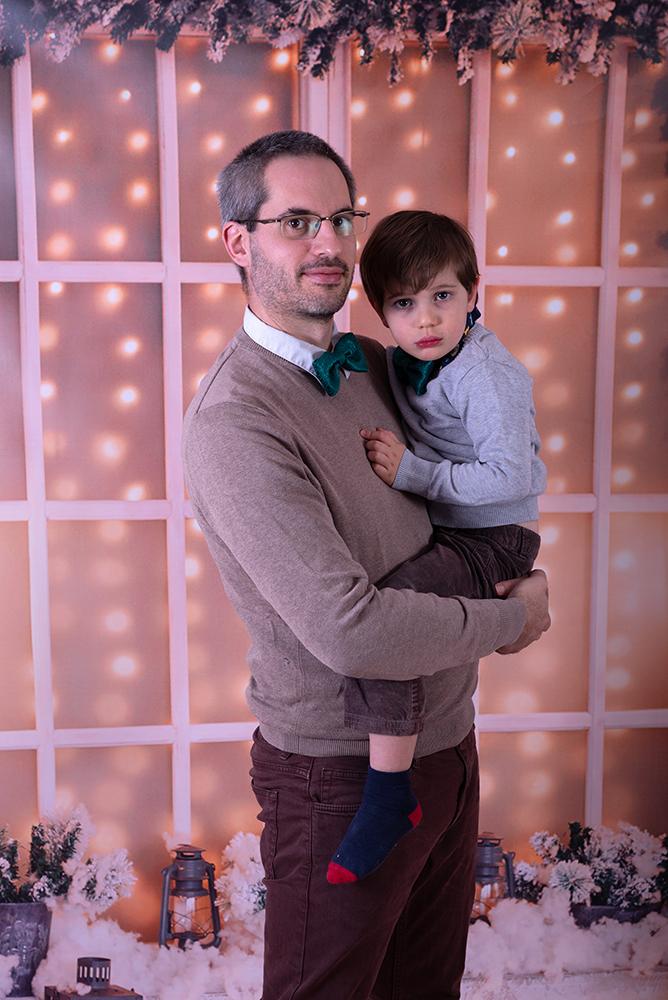Séance photo famille Noël Antibes
